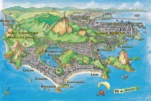 Rio de Janeiro ( Brasil ) mapa